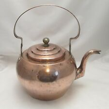 Un' enorme del XIX secolo TEIERA DI RAME-LOVELY ROUND Tea Pot-kitchenalia