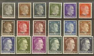 Stamp-Germany-Ostland-Mi-1-18-Set-1941-WWII-Adolf-Head-Estonia-USSR-Latvia-MH