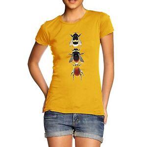 Twisted-Envy-Femmes-especes-d-039-Abeilles-T-shirt-en-coton