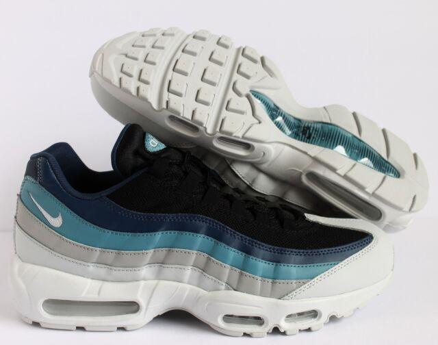 Nike Air Max 95 Essential Platinum Black Navy AQUA Blue 749766 026