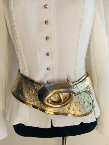 Sophia Women's Belt Gold metal/genuine leather bel