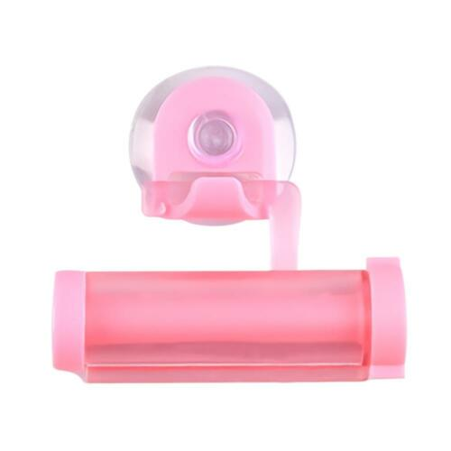 Cute Creative Bathroom Sucker Hanging Rolling Tube Toothpaste Squeezer Dispenser