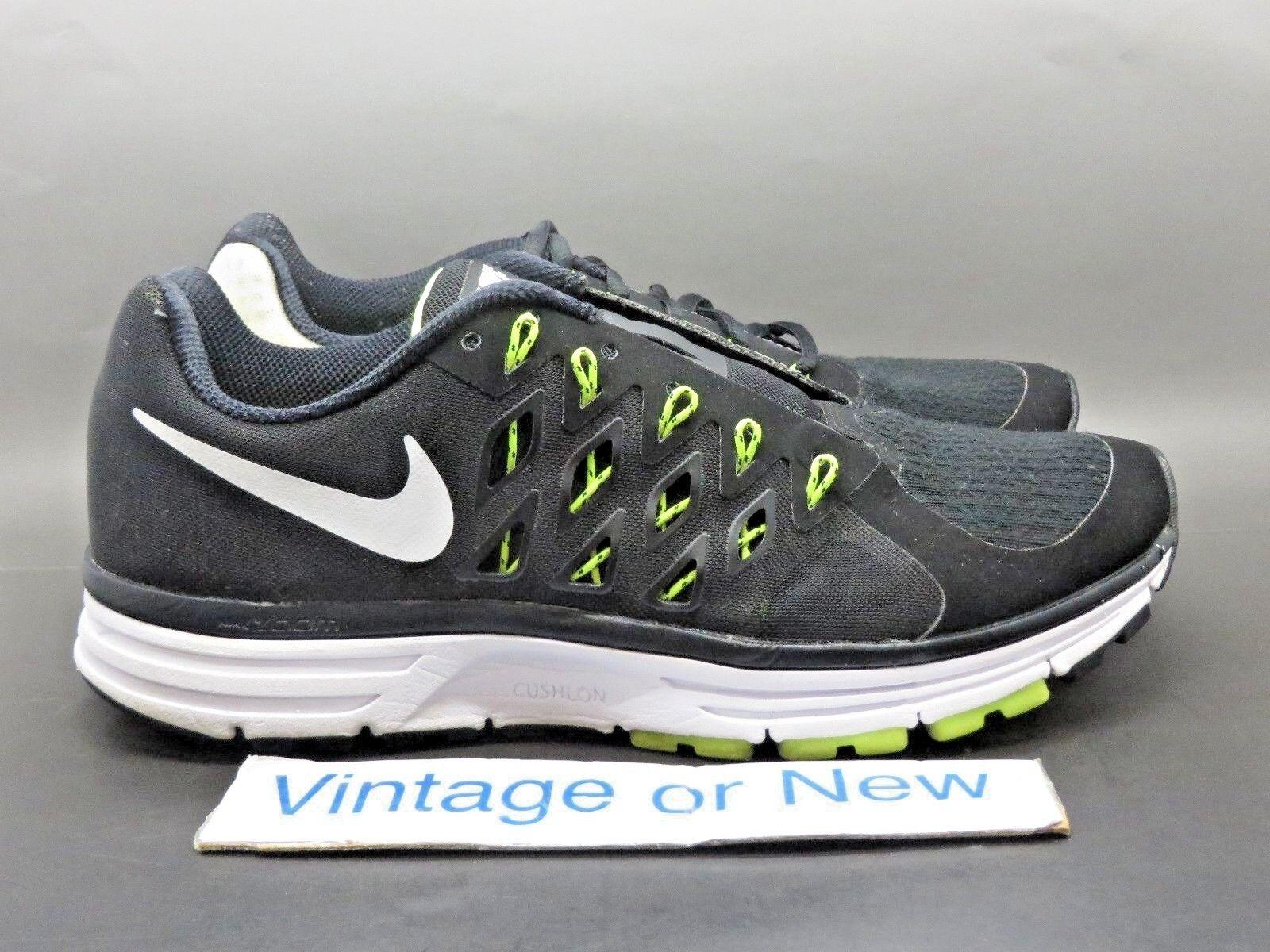 cheap for discount b3dd4 d2853 Women s Nike Zoom Vomero 9 Black Black Black White Volt Running Shoes  642196-001 sz