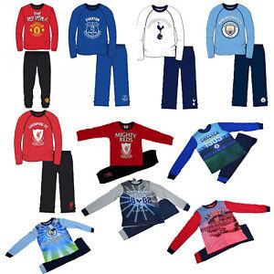 Boys Kids Official FC Barcelona Pyjamas Pjs Football Club Nightwear Sleepwear
