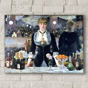 Canvas Art Print Bar at the Folies-Bergère Edouard Manet