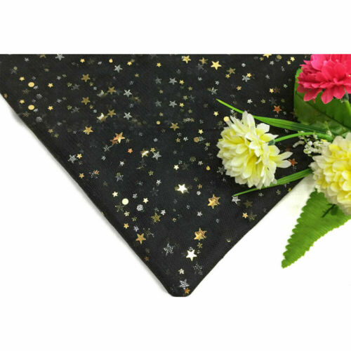By Metre Soft Mesh Tulle Fabric Star Sparkle For Bow Sewing Decor DIY 150*100cm