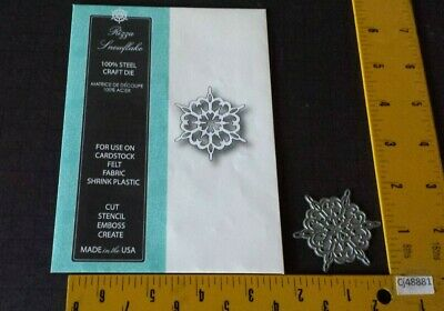 "NEW MEMORY BOX 98615 /""Rizza Snowflake/""  100/% Steel Craft Die Size  1.6 x 1.9 in"