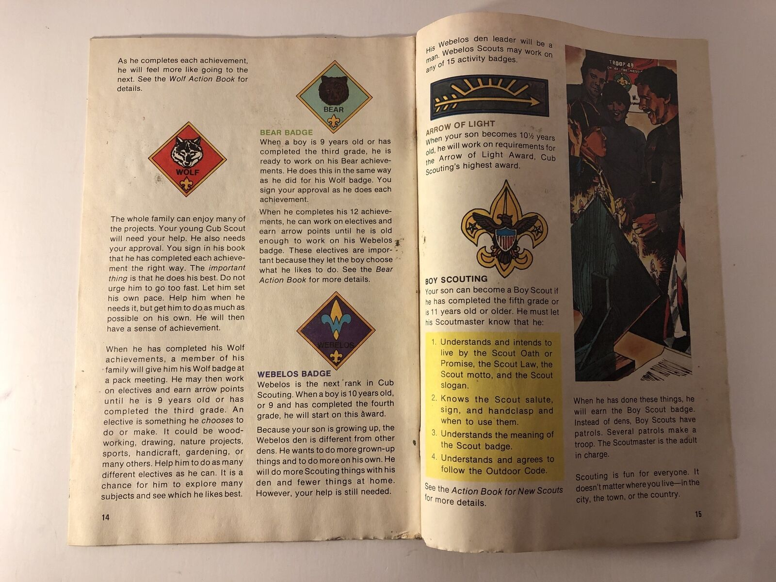1983, A Cub Scout Action Book Family, Boy Scouts of America