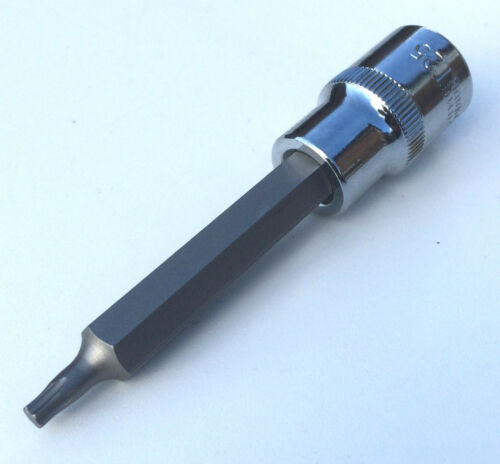 "US PRO T25 Torx male TX socket driver 4/"" 100mm long 1//2/"" drive tool inc VAT"