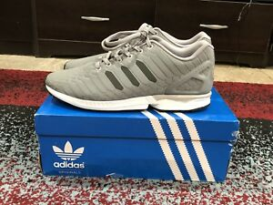 online retailer 14383 66701 Image is loading Adidas-Zx-Flux-Silver-grey-Sz-11-Boost-