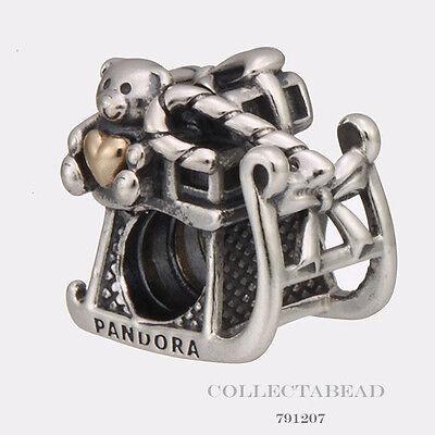 Authentic Pandora Silver & 14K Dashing Through The Snow Bead 791207 50% OFF!!!