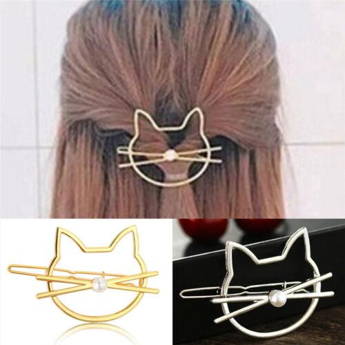 Hohl Katze Haarspange Haarspangen Mädchen schöne Haarschmuck PDH