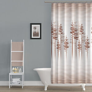 Extra Long Fabric Shower Curtain With Nature Print 180cm Wide By 200cm Drop 8680789099093 Ebay