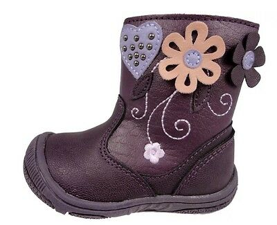 Toddler Boots Chatterbox Flower Ankle Boots Size Uk5 New Free Delivery