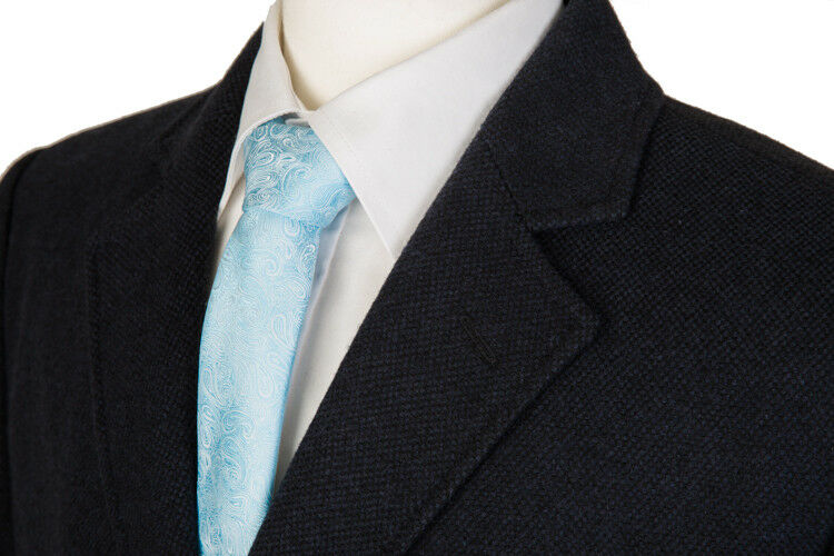 NEW Herren NAVY Blau 3 4 LENGTH COAT WOOL OVERCOAT WARM WINTER COAT LENGTH CROMBY STYLE d31686