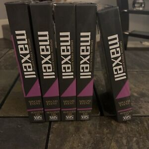 Lot Of 5 Maxell  High Grade Special Ev T-120 Blank VHS Video Cassette Tapes New