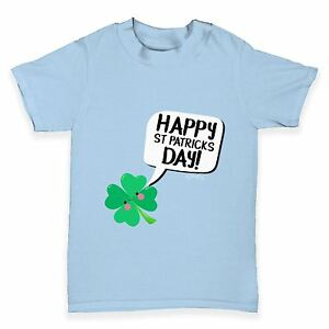 ff746daa Twisted Envy Cute Clover St Patrick's Day Baby Toddler Funny T-Shirt ...