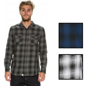 Vans-Off-The-Wall-Men-039-s-Monterey-Long-Sleeve-Plaid-Flannel-Shirt