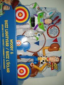 Disney-Pixar-Toy-Story-4-Woody-amp-Buzz-Lightyear-Arcade-Action-Figure-2-Pack