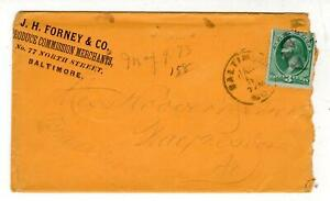 1873-J-H-FORNEY-amp-CO-PRODUCE-COMMISSION-MERCHANTS-BALTIMORE-MD-COVER-amp-LETTER
