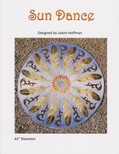 Sun Dance JoAnn Hoffman Raw Edge Appliqué Quilt Pattern DIY Feather