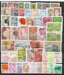 VIETNAM-STAMP-COLLECTION-amp-PACKET-of-50-DIFFERENT-Used-Stamps-NICE-SELECTION