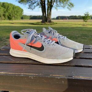 Used Nike AR4135-402 Downshifter 9 GS Sneakers Shoes Size 4Y Lava Youth Girls