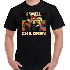 SANDERSON-SISTERS-T-Shirt-Halloween-HOCUS-POCUS-Mens-I-Smell-Children-Tee-Top