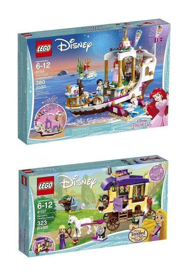 Lego 41153 41157-Ariels Royal celebración Barco Rapunzels viajando caravana