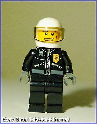 Lego Figur City (cty228) Polizist mit Lederjacke und Helm - Minifig - NEW - NEU