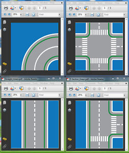 image relating to Printable Road named Information and facts pertaining to Lego BLUE H2o Printable Highway plate Baseplate PDF onCD