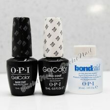 OPI GelColor Gel Nail Color BASE + TOP COAT 0.5oz +pH BondAid Bond Aid 1oz 1 oz