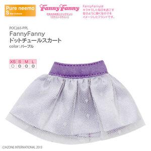 Azone-Pureneemo-Fanny-Fanny-Dot-Tulle-Skirt-Purple-Blythe-Pullip-Momoko-Doll-DAL