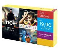 NC+ TELEWIZJA NA KARTE WRAZ Z ANTENA HD 1 MIESIĄC FREE CANAL+ SPORT POLSAT