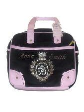 LOVELY NEW LADIES / GIRLS ANNA SMITH BLACK / PINK HANDBAG OVERBODY MESSENGER BAG