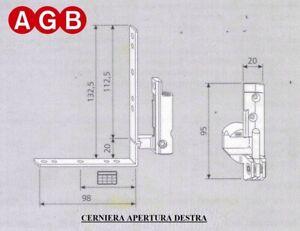Cerniera Angolare AGB cod. A200400105  finestra anta ribalta DESTRA SINISTRA