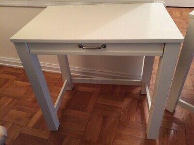 2 Pottery Barn Kids Parsons Mini Desks White Matching Ikea Ingolf Chair White Ebay