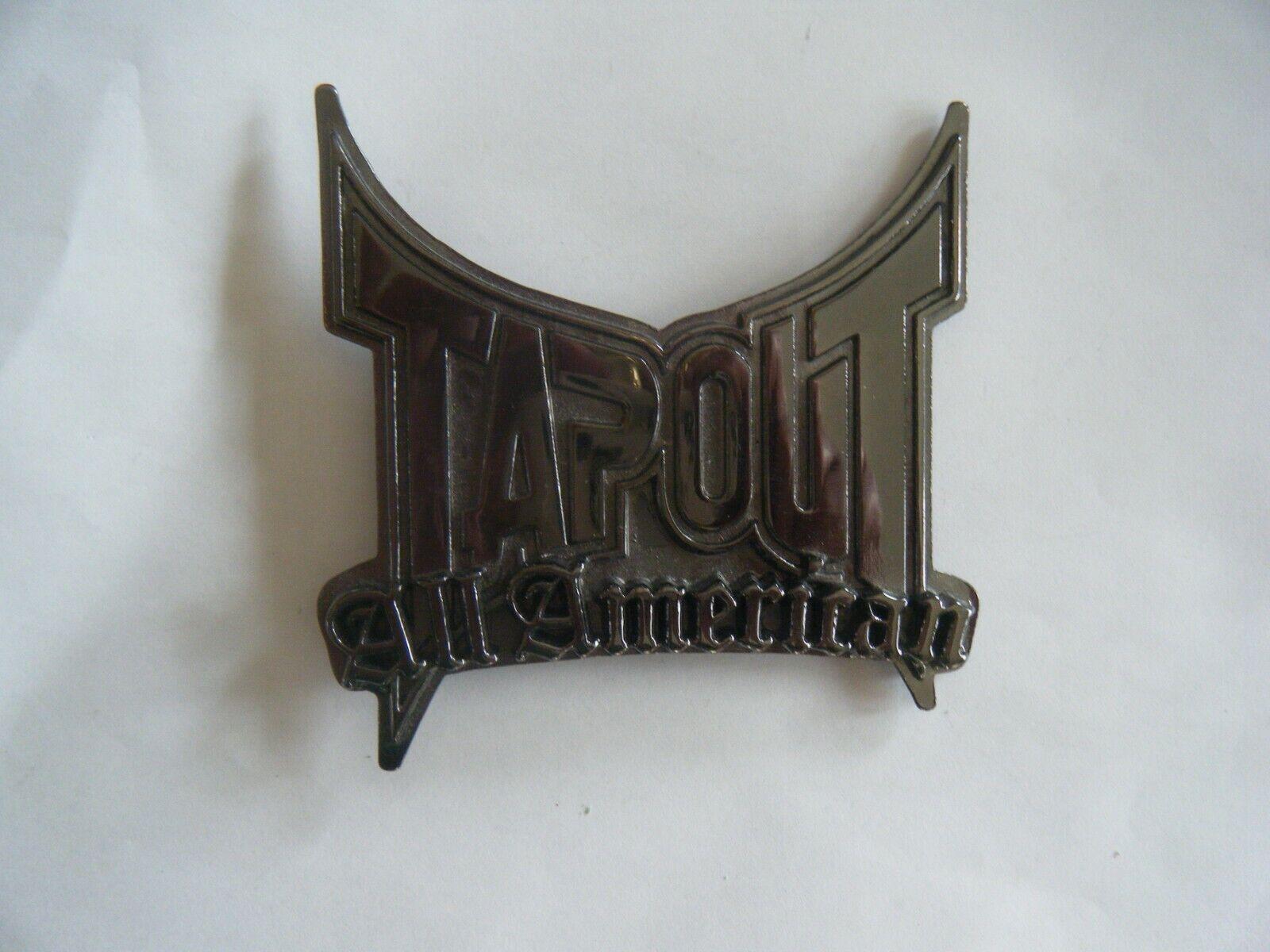 Tapout All American Logo Black Gun Metal Belt Buckle UFC Grapple MMA Fight