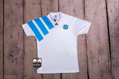 Calcio Vintage Retro Jersey Marsiglia Maglia Olympique de Marseille 1992-1993