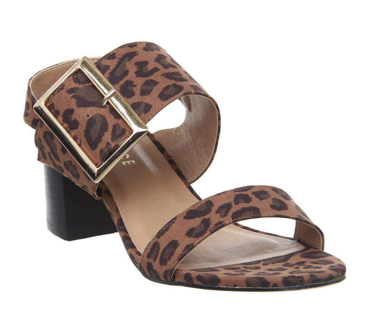 Womens Office Office Office Makeover Buckle Sandals Leopard Heels 677a08