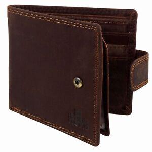 Mens-Rugged-Oiled-Cognac-Hunter-Leather-Tabbed-Bi-Fold-RFID-Wallet-Rowallan-of-S