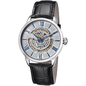 Stuhrling-Delphi-696-Men-039-s-44mm-Automatic-Black-Calfskin-krysterna-Watch-696-01