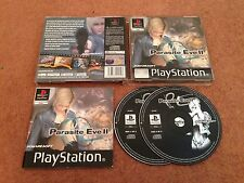 PARASITE EVE II 2 SONY PLAYSTATION 1 PS1 PS2 PS3 GAME WITH MANUAL UK PAL VGC