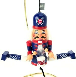 Cubs Christmas Ornaments.Details About Foco Team Ornament Nutcracker Chicago Cubs Christmas Ornament Pull String Wooden