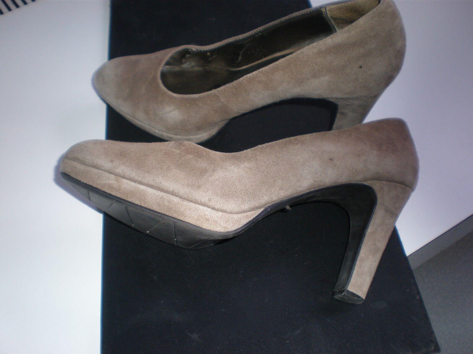 MODA SPANA  SHOES Women TAUPE Suede Platform High Heels Pumps shoes 8M PRISTINE