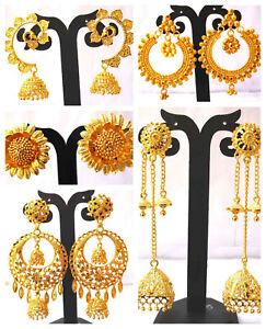 22K-Gold-Plated-Different-Designer-Variation-Indian-Stud-Earrings-Jhumka