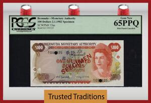 Karibik Bermuda 100 Dollars 1982 Specimen Pick 33s 1