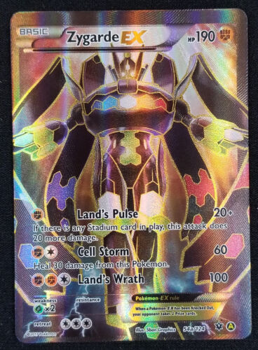 Pokemon Zygarde EX 54a//124 XY Fates Collide Alternate Full Art Promo Card
