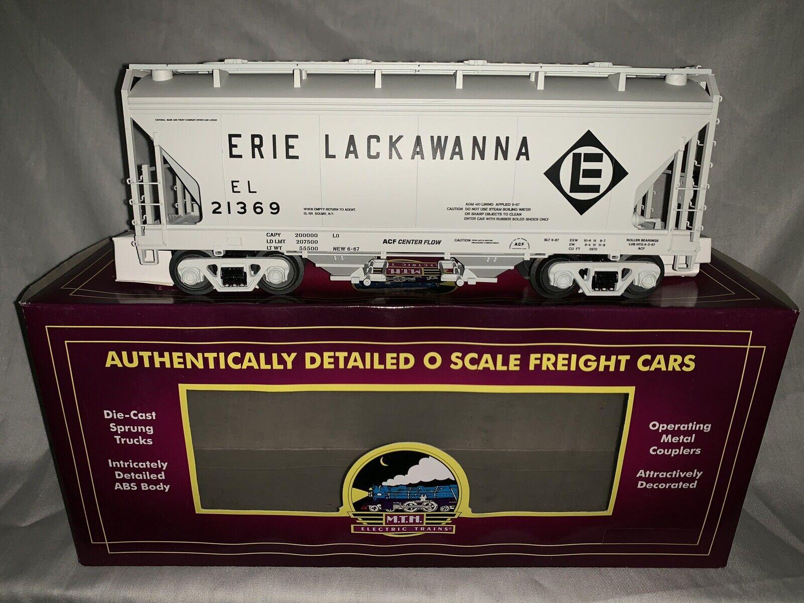 MTH Premier Erie Lackawanna 2 Bay Centerflow Hopper Nuevo Para Tren Lionel Atlas