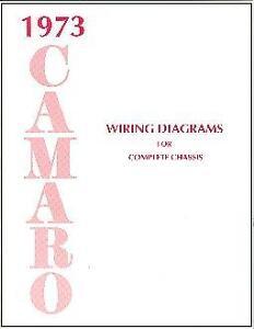 1973 73 CAMARO WIRING DIAGRAM MANUAL | eBay
